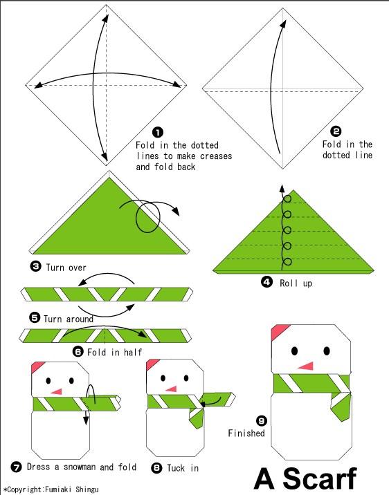 Оригами к новому году для начинающих