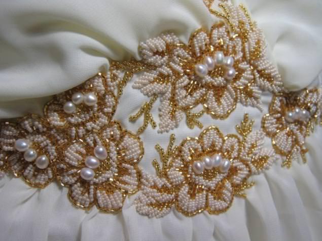 Вышивание бисером по ткани