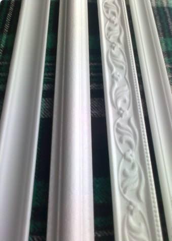 Рамка для вышивки из потолочного плинтуса своими