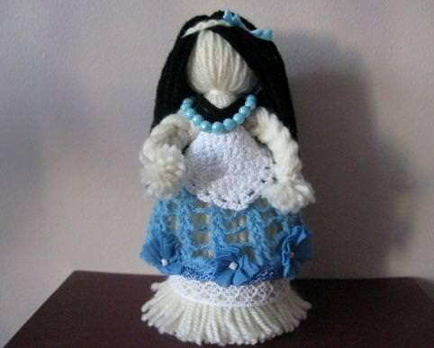куклы из ниток своими руками пошаговая инструкция - фото 11