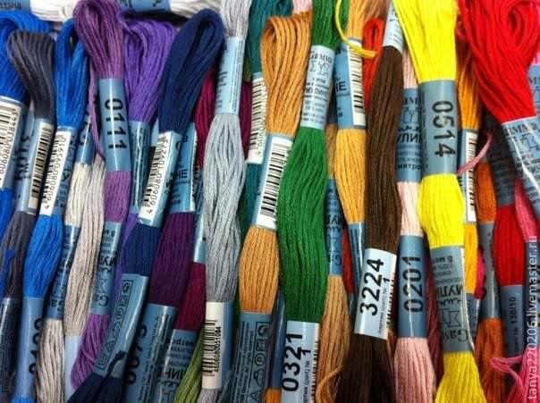 Нитки мулине для вышивки