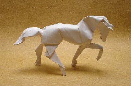 Оригами лошадь схема видео фото 840