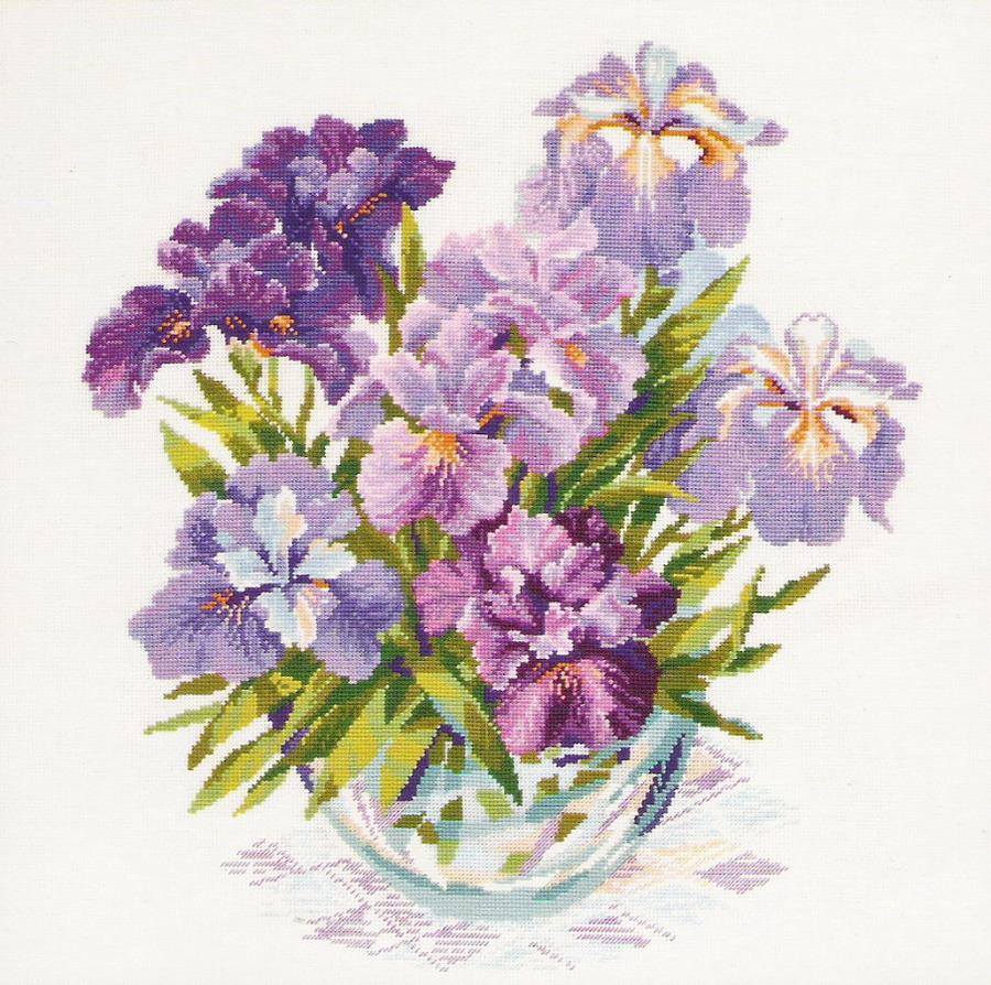 Вышивка цветов и букетов крестиком 860