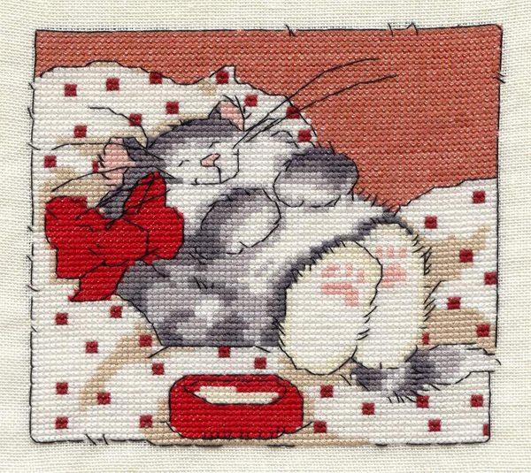 Вышивка котов