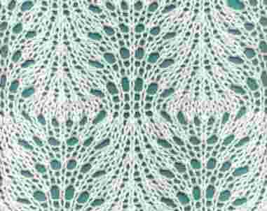 образцы ажурного вязания на спицах схемы - фото 6