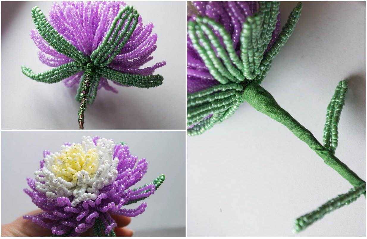 Фото схем цветков из бисеров