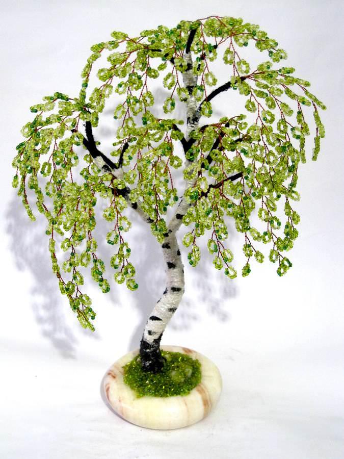 Сделать дерево береза своими руками
