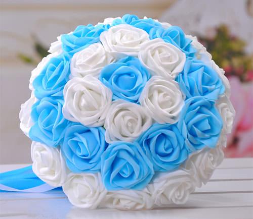Букет розы из лент