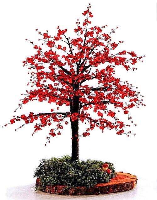 Плетение дерева из бисера
