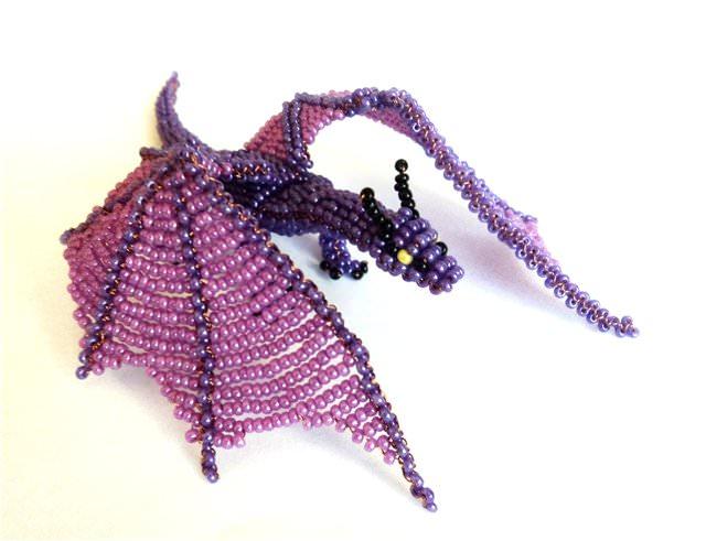 плетения дракона из бисера