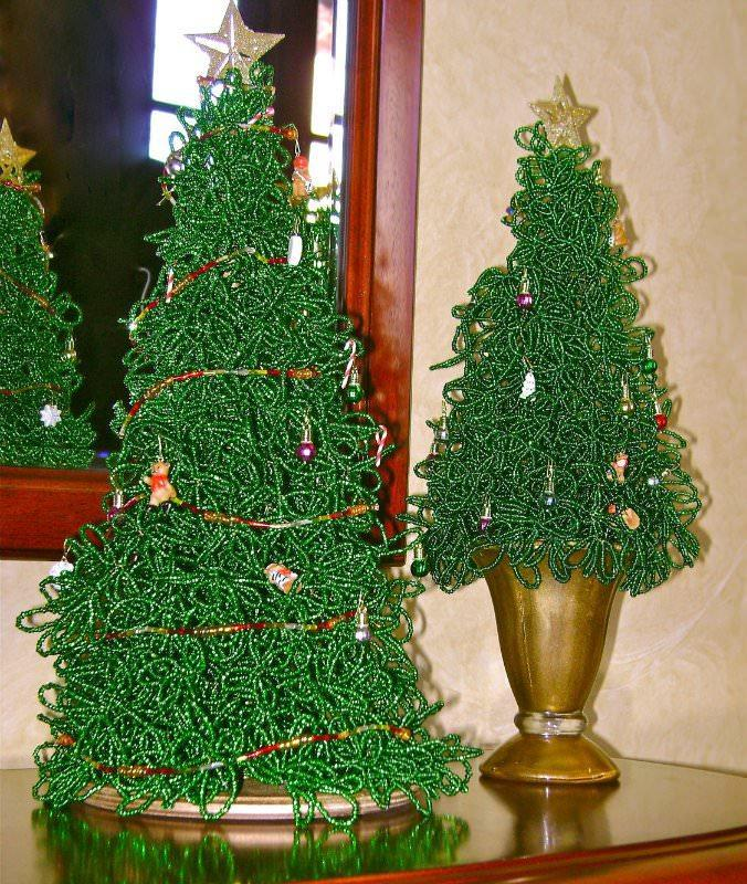 Поделки своими руками елка из бисера