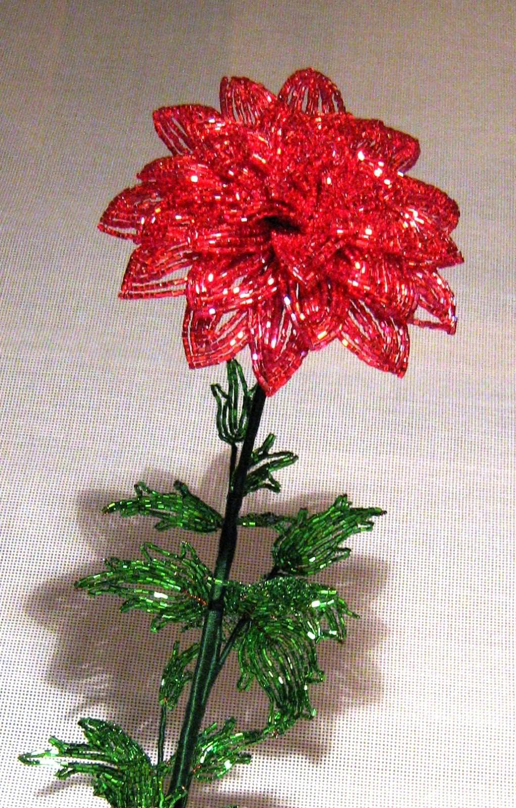 Цветок из змейки схема
