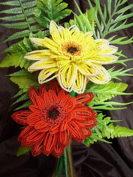 Цветы из бисера своими руками гербера
