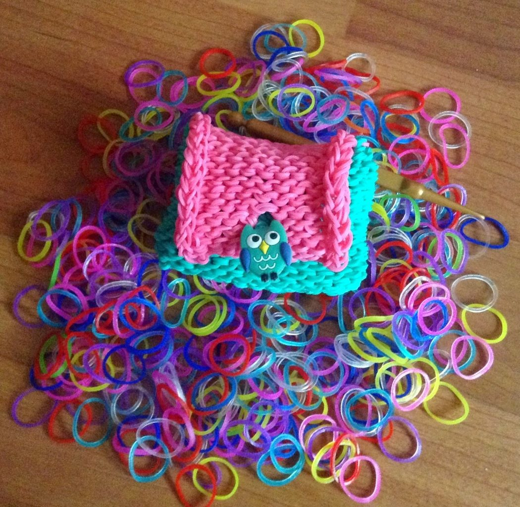 Плетение резиночками кошелька