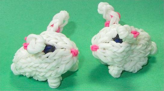 Плетение из резинок кролик для начинающих