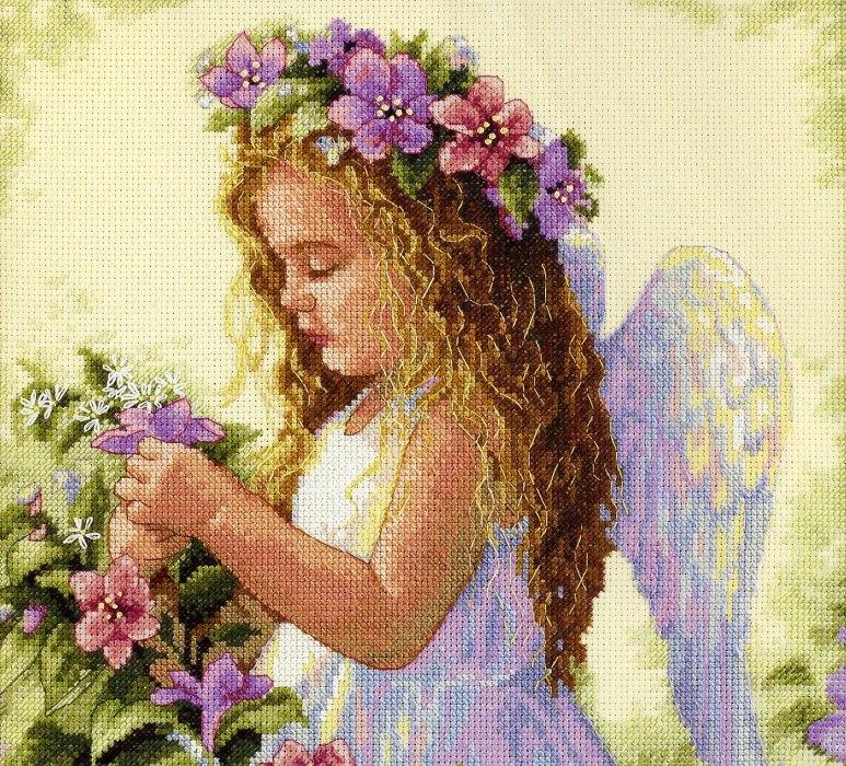 Вышивка ангелочков крестом