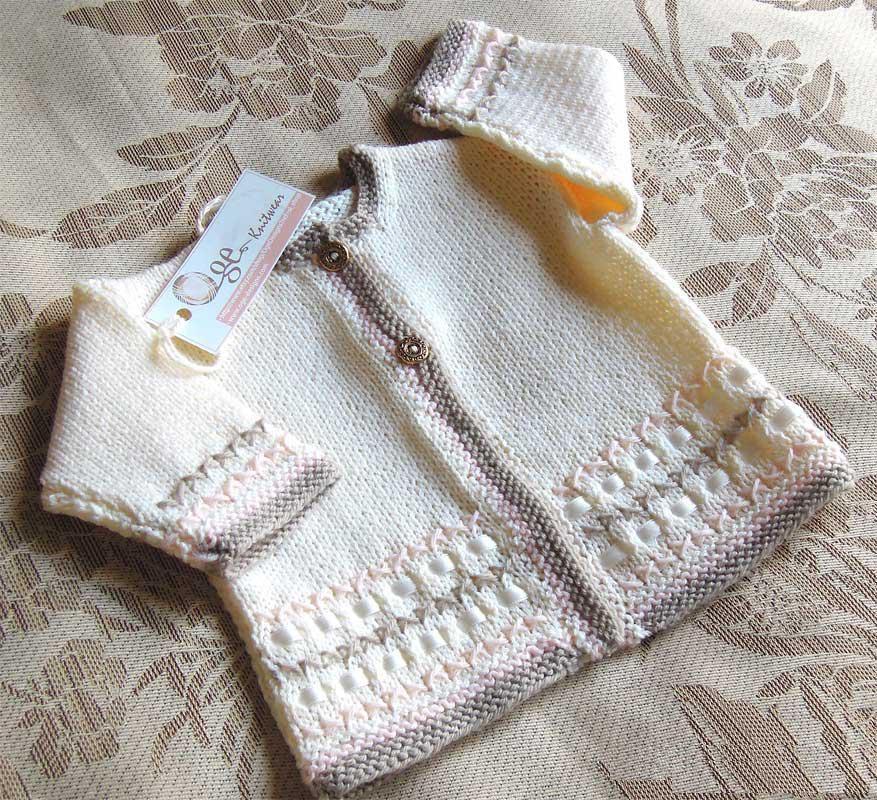 Вязание спицами кофточку новорожденному
