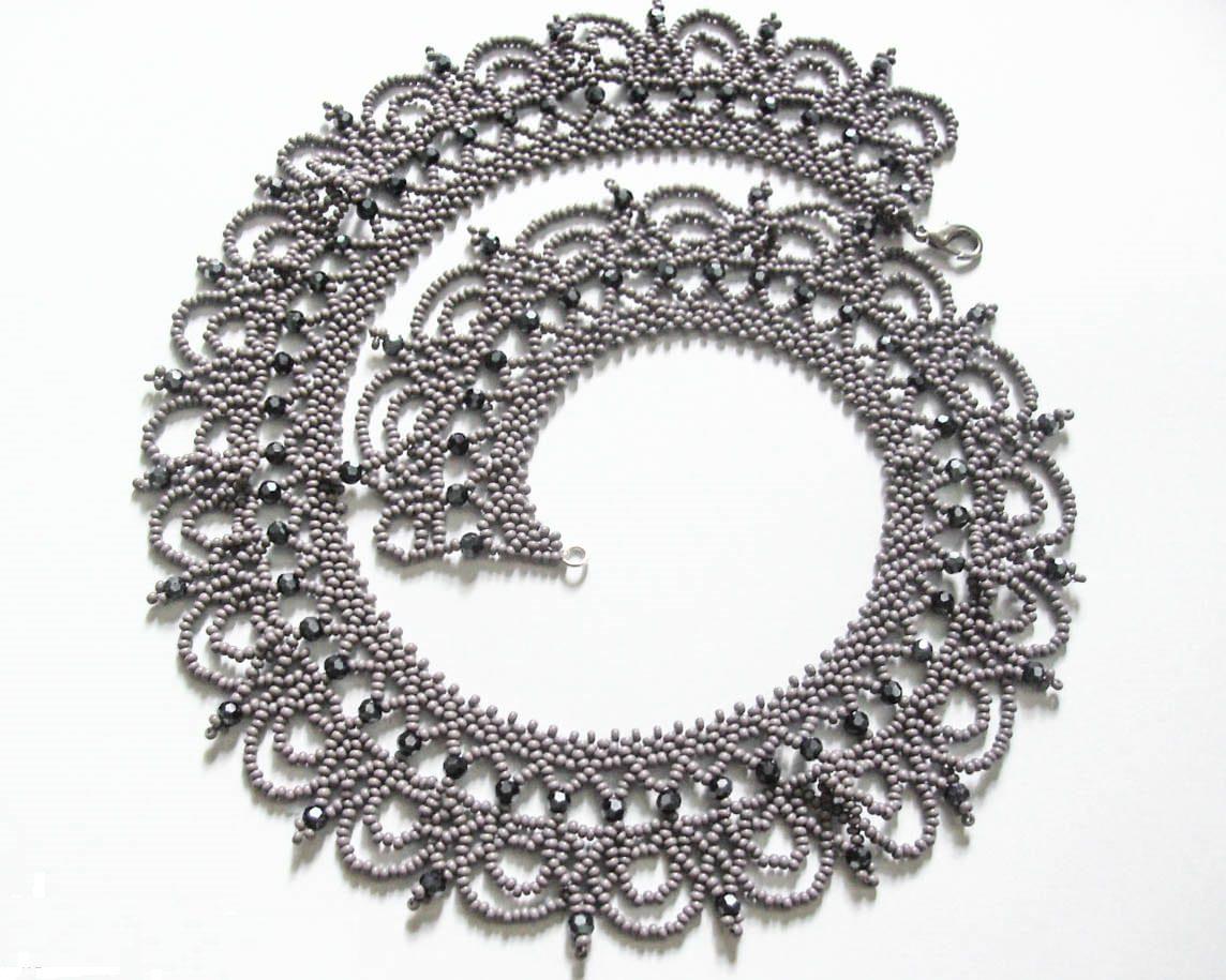 Ожерелье своими руками: плетение бусин из жемчуга 100