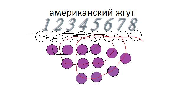 жгута из бисера: Схема №4