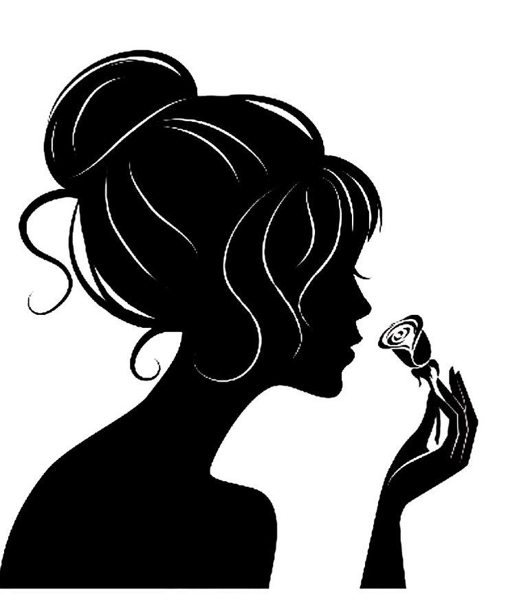 Контурный рисунок для девушки