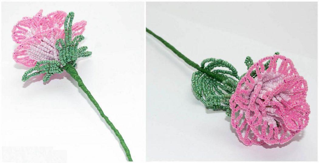Роза ажурная из бисера мастер класс с пошаговым для начинающих