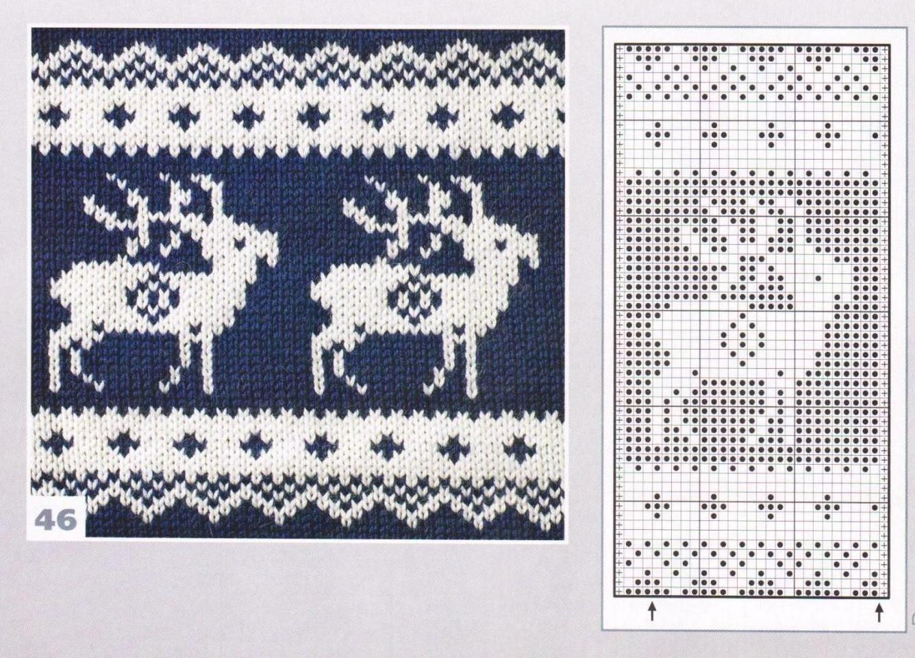 схема орнамент для вязания носок спицами