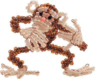 Плетение объемной обезьяны из