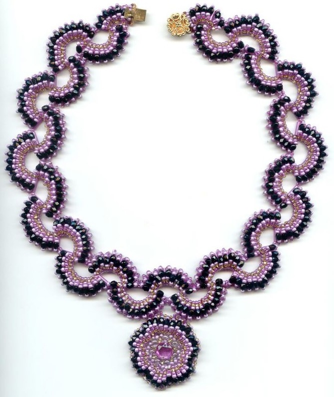 Схема плетения ожерелья из