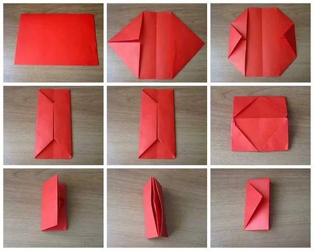 Как сделать оригами из бумаги кошелек