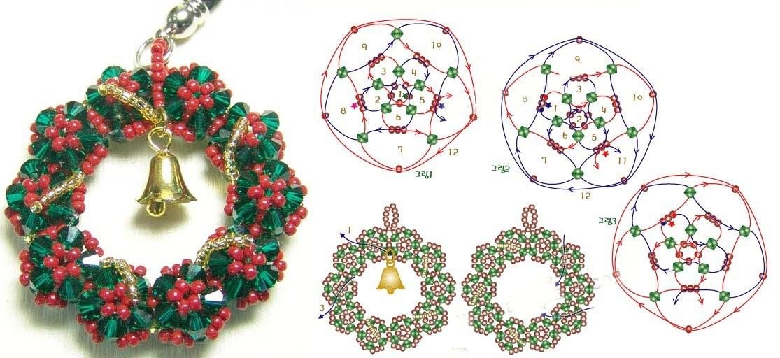 Схема плетения рождественского