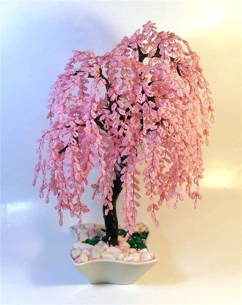 Плетение цветущей сакуры из