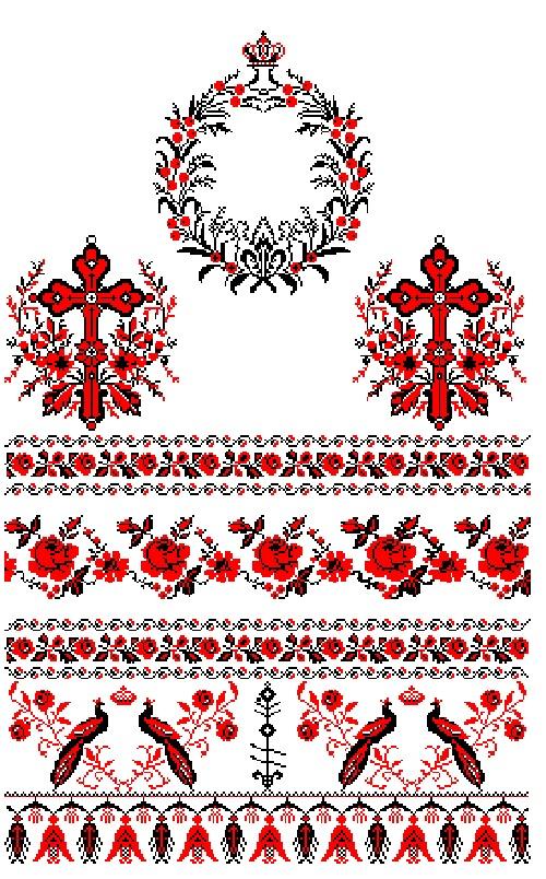 Вышивка на рушник схема вышивки 68