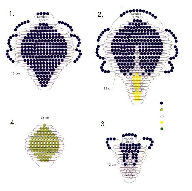 Схема плетения ириса из бисера