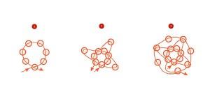 Схема плетения мозаичного жгута из бисера.