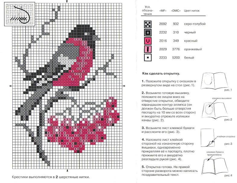 Схемы вышивки крестом со схемами