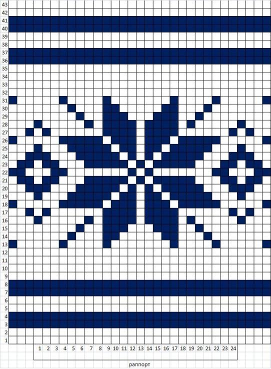 Орнамент для вязания кофт