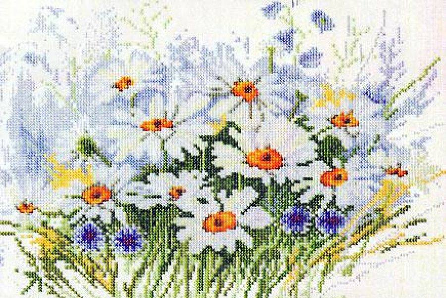 Вышивка цветов