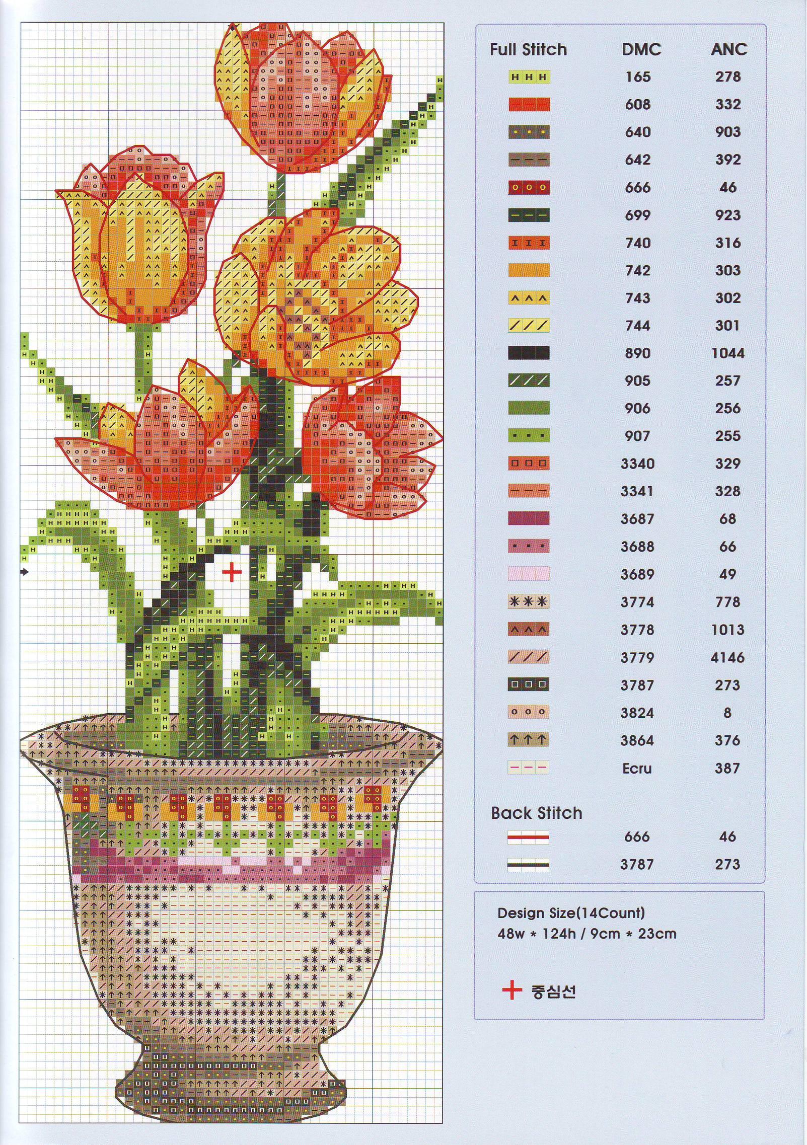 Картинки цветов для вышивки крестом 759