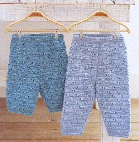 Вязание детских штанишек на 6 месяцев