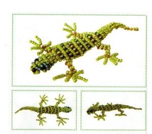 Схема фенечек прямым плетением животные