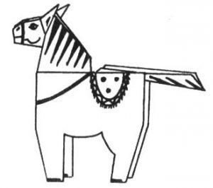 19-13-300x266 Мастерим по схеме бумажные фигурки лошади оригами