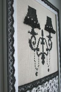 Вышивка чёрными нитками