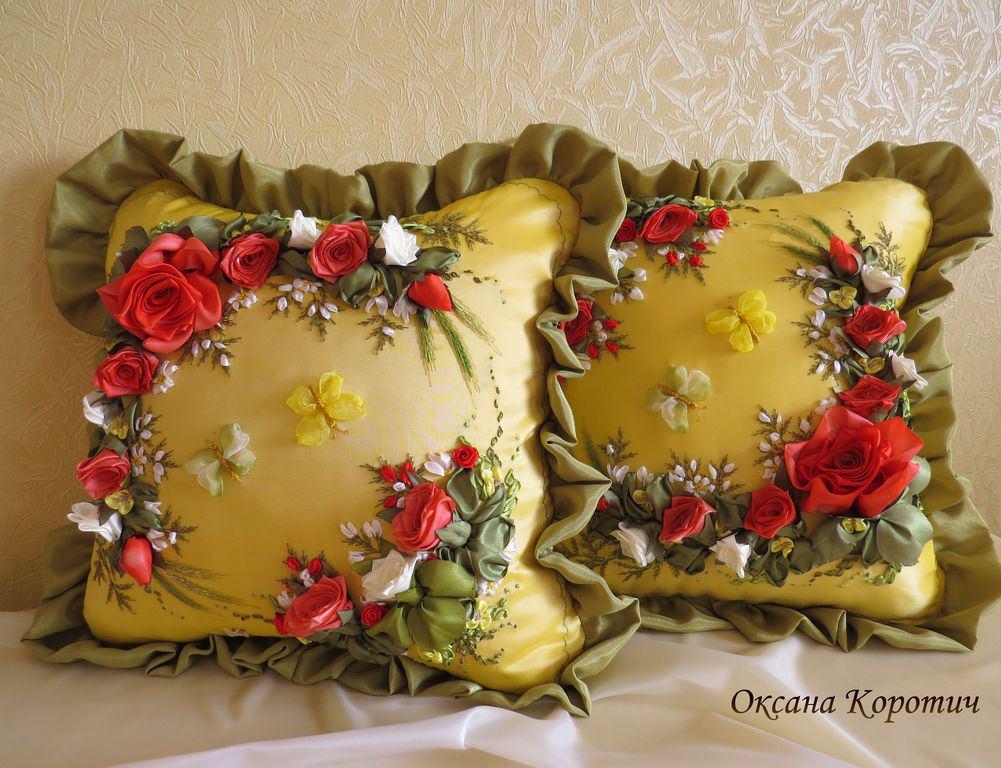 Ленточные вышивки схемы вышивки