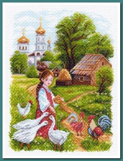 Готовый рисунок вышивка на канве