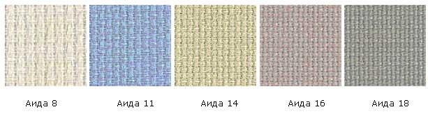 Виды полотна для вышивки