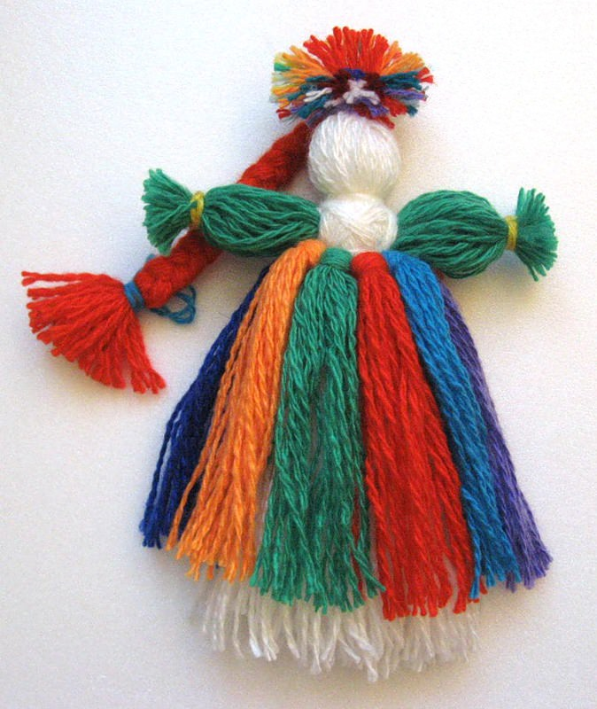 Плетения куклы нитками куклы