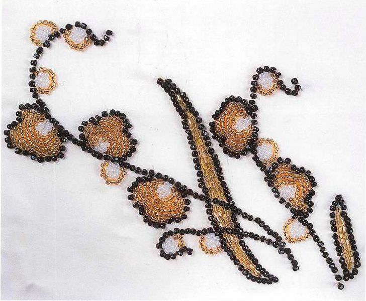 Схемы вышивок для вечерних платьев