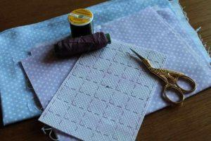 Размечаем канву для вышивки крестиком
