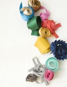 Материалы для изготовления цветов из лент
