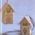 Вышиваем домик на пластиковой канве